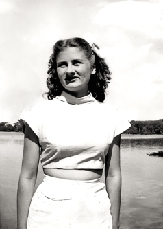 Audrey at CGIT Camp, Lake Simcoe, 1947